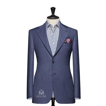 Plain Blue Notch Label Suit 624DT60766