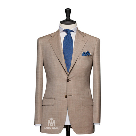 Plain Beige Notch Label Suit 624DT60721