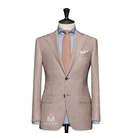 Stripe Beige Notch Label Suit 624DT60739