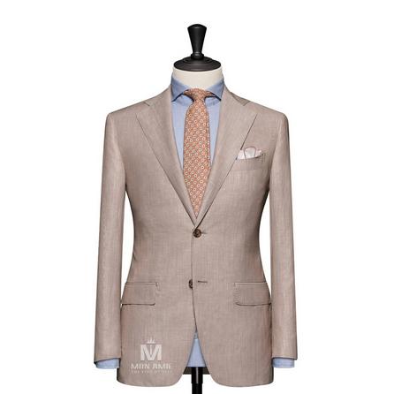 Stripe Beige Notch Label Suit 624DT60739