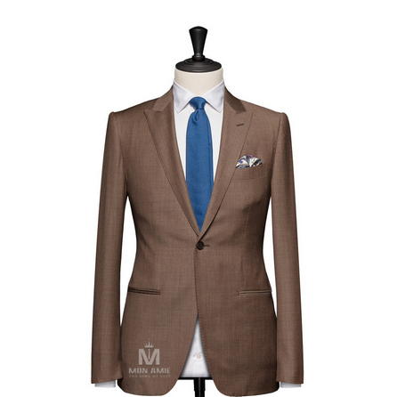 Plain Beige Peak Label Suit 25001DT6010
