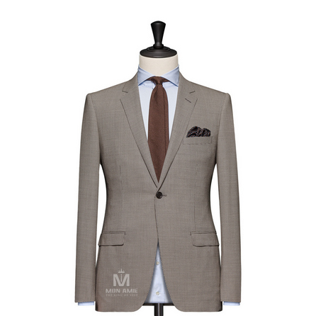 Check Brown Notch Label Suit 1970CE0044