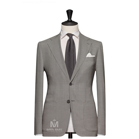 Check Brown Notch Label Suit 25006DT601