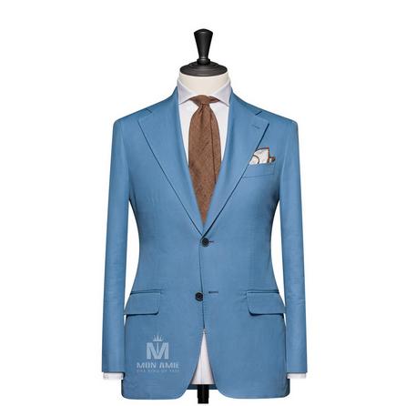 Plain Blue Notch Label Suit TUVDT5036