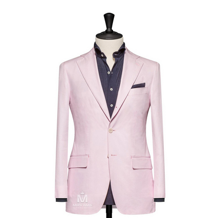 Plain Pink Notch Label Suit 624DT60732