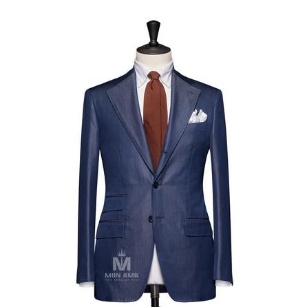 Plain Blue Peak Label Suit 723DT70717