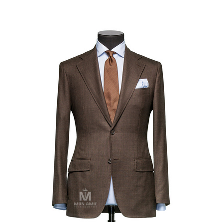 Sharkskin Brown Notch Label Suit 1134ZCE0002