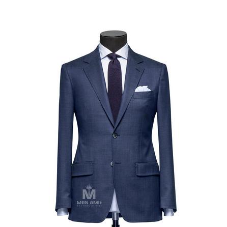 Plain Blue Notch Label Suit 523DT50727