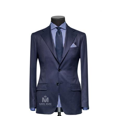 Plain Blue Notch Label Suit 147DT100628