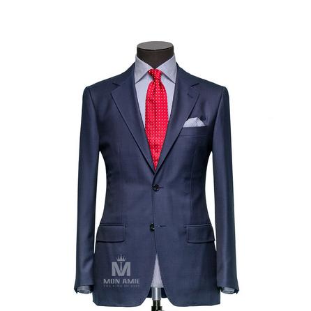 Plain Blue Notch Label Suit ReitDT501918