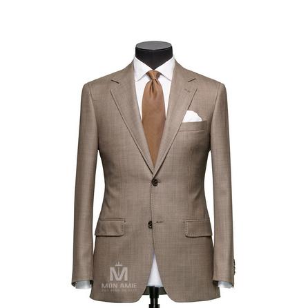 Plain Brown Notch Label Suit 723DT70722