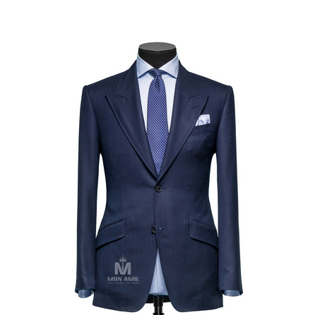 Glencheck Blue Peak Label Suit 147DT100633