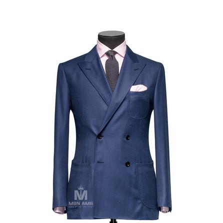 Birdseye Blue Peak Label Suit 523DT50735