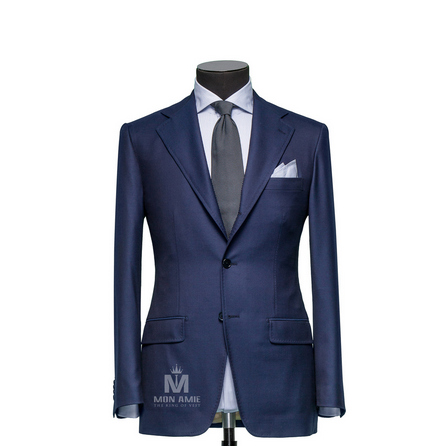 Plain Blue Notch Label Suit 30999DT7022