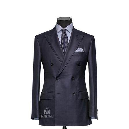 Plain Blue Peak Label Suit 625DT60904