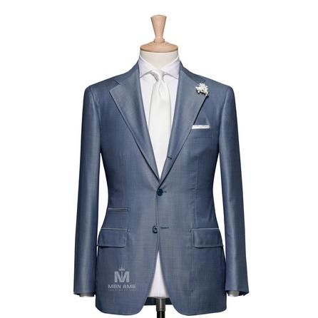 Plain Blue Notch Label Suit 523DT50737