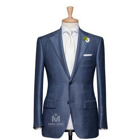 Plain Blue Notch Label Suit 523DT50750