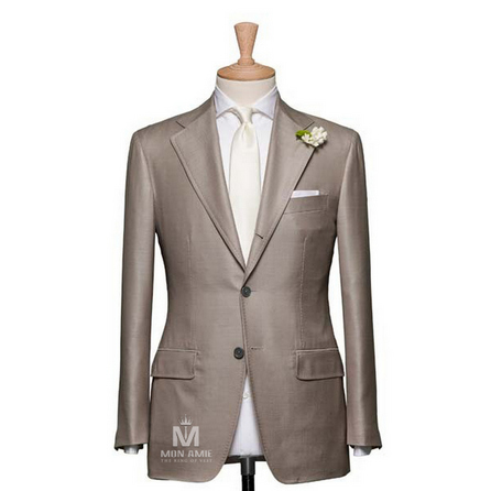 Plain Beige Notch Label Suit 624DT60711