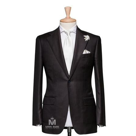 Plain Black Notch Label Suit 624DT60713
